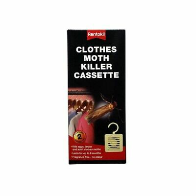Rentokil Hangable Clothes Moth Killer Cassette Pack Of 4 Each Lasts 6 Months • 5.99£