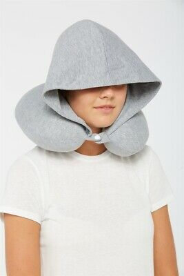 AU10 • Buy Typo Unisex Hooded Neck Pillow Travel Accessories  In  Grey