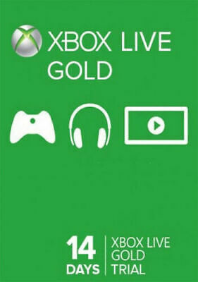 $3.54 • Buy Xbox 360 1 One: Two 2 Weeks / 14 Days Xbox Live Gold Trial