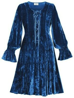 $59.99 • Buy NEW HOLY CLOTHING HolyClothing Velvet Boho Gypsy Renaissance Spell Dress L/XL