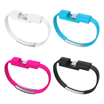 $5.54 • Buy 2Pcs Type-C USB 2.0 Cable Bracelet Charging Data Sync Cord Wristband For Huawei