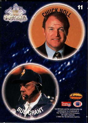 $0.99 • Buy Chuck Noll/Bud Grant 1994 Ted Williams Roger Staubach's NFL Pog Cards #11