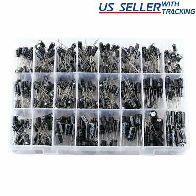 $14.95 • Buy 500pc Radial Electrolytic Capacitor Assortment Kit 24 Value 0.1uF-1000uF 10V-50V