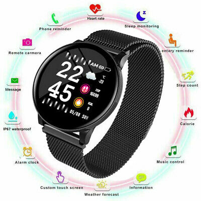 $ CDN25.05 • Buy NEW 2019 Bluetooth Smart Watch W8 Phone & Camera For IOS Android Steel Wristband