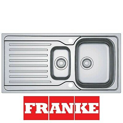 Franke Antea AZN 651 Stainless Steel Reversible 1.5 Bowl Kitchen Sink And Waste • 129£
