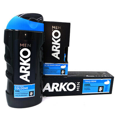 Arko Cool Shaving Set. Cologne, Shaving Cream And After Shave Cream • 10.79£