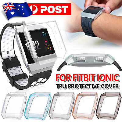 AU6.85 • Buy Soft TPU Silicone Cover Clear Protective Case Skin For Fitbit Ionic Watch