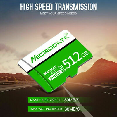 512GB Micro*SD TF-Memory Cards 32GB 128GB 256GB High Speed U3 TF-Cards & Adapter • 9.99$