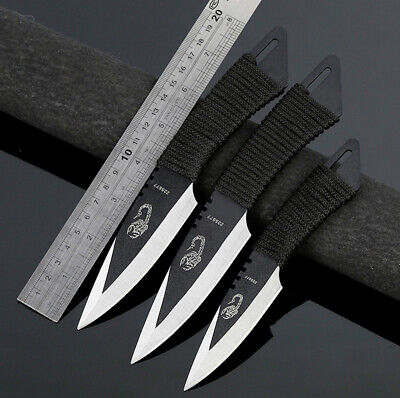 AU27.99 • Buy Throwing Outdoor 3PCS / 4PCS Fixed Blade Knife Camping Hunting Survival Tactical