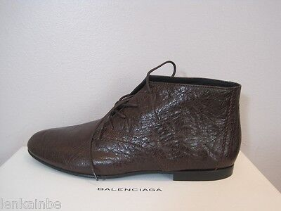 AU419.49 • Buy Balenciaga Brown Leather Oxford Boots Booties Shoes $665 39.5 9.5