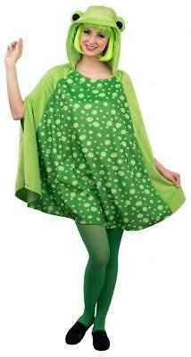 £25.99 • Buy Ladies Spotty Green Frog Cape Animal Festival Funny Fancy Dress Costume Outfit