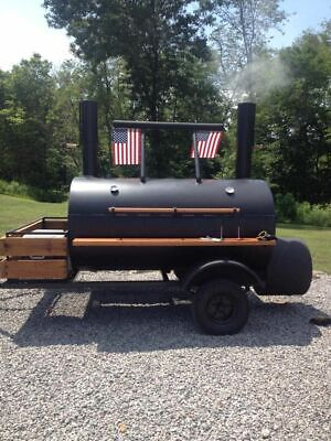 Heavy-Duty 2013 Custom-Built Open BBQ Smoker Pit Trailer / Rotisserie For Sale I • 3,449$