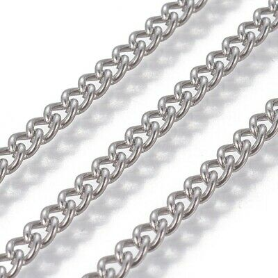1 Metre Length Stainless Steel Chain 304 Grade Curb Chain • 2.49£