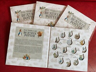 2016 2017 2018 Beatrix Potter 50p Fifty Pence Coin Album Collecting Pack Present • 10.99£