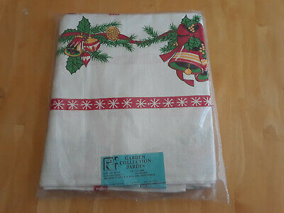 $ CDN52.78 • Buy New Unused Vintage Christmas Tablecloth Hand Screen Printed From Poland
