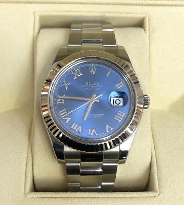 $ CDN11871.44 • Buy Rolex Datejust II Model 116334 Blue Roman Dial