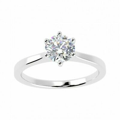 Special Offer.! 0.50Ct Round Diamond Solitaire Engagement Ring,Hallmark Platinum • 949£