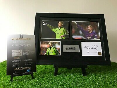 Authentic Hand Signed Peter Schmeichel Manchester United FC Autograph Frame • 79.99£