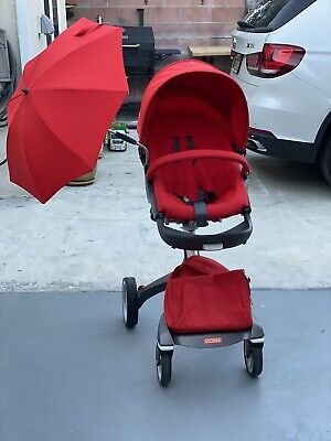 $700 • Buy Stokke Xplory Stroller With Bassinet / Carrycot Red
