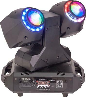 Dual 2-in-1 30W Wash & Beam LED Moving Head With DMX Control - IBIZA LIGHT • 286.19£