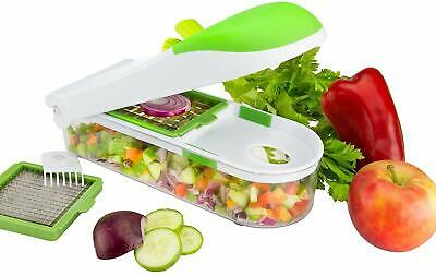 Food Chopper Slicer Dicer 3 Changeable Blades Food Container By Nuovva • 11.99£