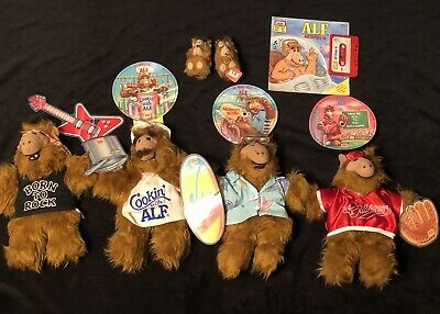 Huge Alf Collection Four Dolls & Records, Book And Tape, Mini Figures Vtg. 1980s • 50$