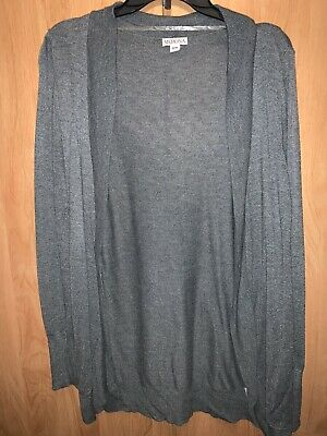 $11 • Buy Womens Merona Gray Open Front Sweater-Worn Once-Size Medium