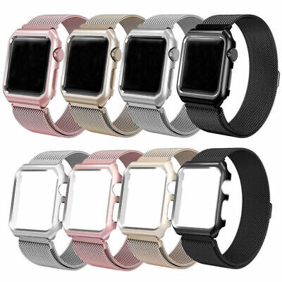 AU14.82 • Buy Milanese Loop Strap Magnetic Band With Case Cover For Apple Watch Series 5 4 3 2