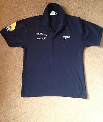 Great Britain British Swimming Speedo TeamGB Polo Shirt Small S Paralympic Rio • 12£