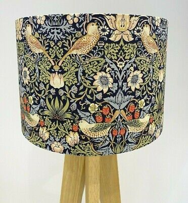 £26 • Buy Handmade William Morris Strawberry Thief- Lampshade-Floral- Bird-Blue-Green-Red
