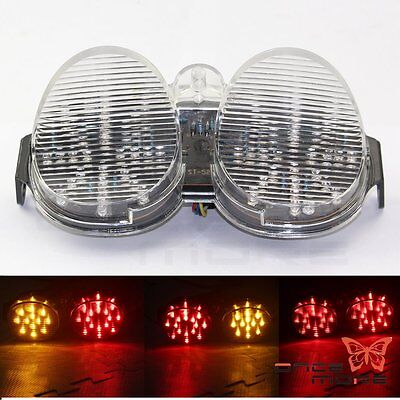 $24.17 • Buy Clear Tail Light Integrated LED Signals For Yamaha YZF R6 2001 2002