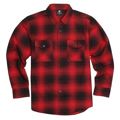 $23.99 • Buy YAGO Men's Casual Plaid Flannel Long Sleeve Button Down Shirt Red/7F (S-5XL)