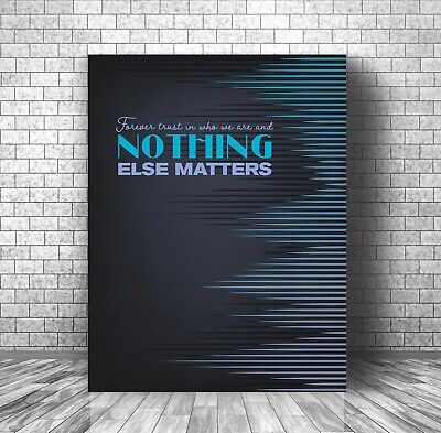 Nothing Else Matters By Metallica - Canvas Or Plaque Decor - Song Lyric Print • 61.90£