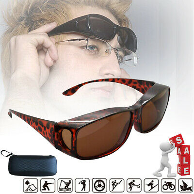 AU16.25 • Buy Polarised Sunglasses Over Glasses Wrap Around UV400 Over Prescription +Box