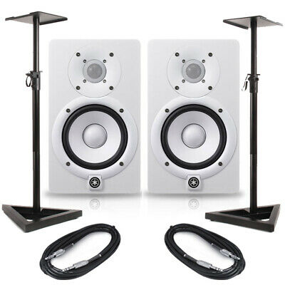 Yamaha HS5 White (Pair) With Stands & Cables • 327.50£
