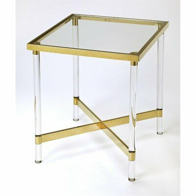 $669 • Buy Butler Charleise Acrylic And Gold Square End Table