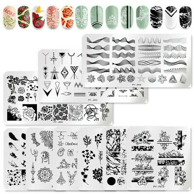 $1.19 • Buy PICT YOU Nail Stamping Plates French Geomtery Rose Flower Nail Art Templates DIY