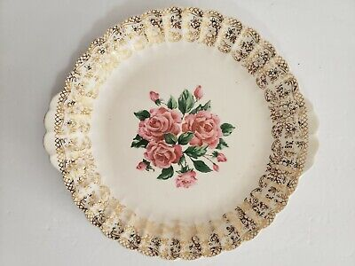 $13.30 • Buy Sebring Pottery Co China Bouquet Serving Plate Warranted 22 K Gold 10 6/8  W