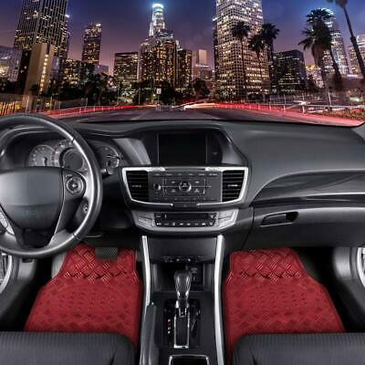 AU36.21 • Buy 3pc Heavy Duty Red Metallic Floor Mats For Car All Weather Shiny Flashy Bright