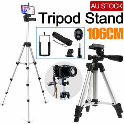 AU17.59 • Buy Professional Camera Tripod Stand Mount For Samsung 7 IPhone 106 CM Phone Holder