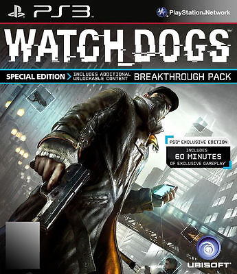 AU13.99 • Buy Watch Dogs -- PS3- ANZ Special Edition RARE OOP