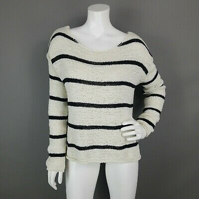 H&m Label Of Graded Goods Loose Knit Striped Sweater Womens Size Medium • 9.99$