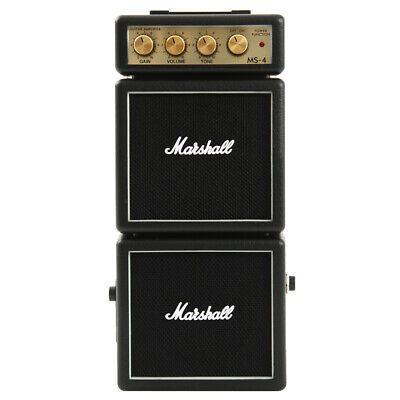 AU69 • Buy Marshall MS-4 Black Portable Micro Amplifier Amp Speaker For Electric Guitar