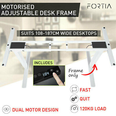 AU399 • Buy Height Adjustable Standing Desk Sit Stand Electric Motorised Office White Frame