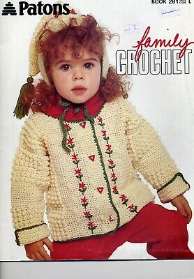 Patons Book 281 - Family Crochet - Crochet Patterns Booklet • 3.99£