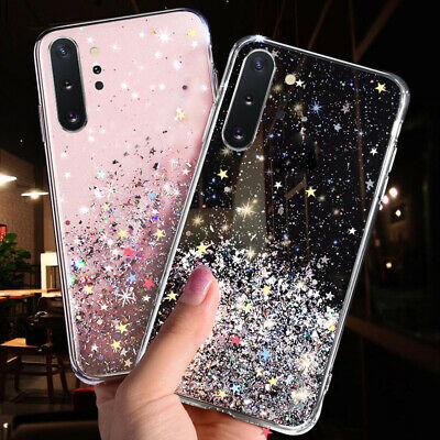 $ CDN3.76 • Buy Bling Glitter Star Clear Soft Silicone Case Cover For Samsung Galaxy Phone Model