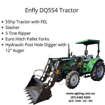 AU29500 • Buy ENFLY 55hp Tractor For Sale With 4in1 Front End Loader 2020 Model - Package Deal