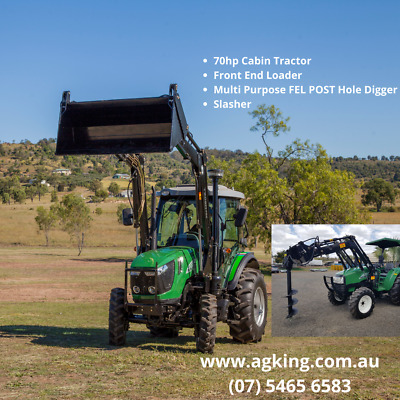 AU34895 • Buy ENFLY DQ704 70hp Tractor For Sale - 4in1 FEL -  Air Con Cabin -  2020 Model