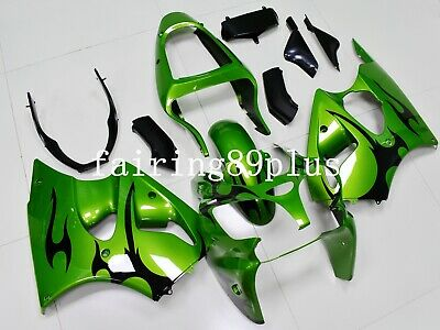 $499 • Buy Candy Green Black ABS Injection Fairing Fit For 2000-2002 ZX6R 2005-2008 ZZR600