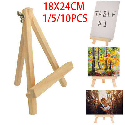 Small Wooden Easel Stand Mini Table Desktop Art Wedding Photo Display Decoration • 4.66£